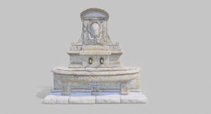 19th century design stone 3D model