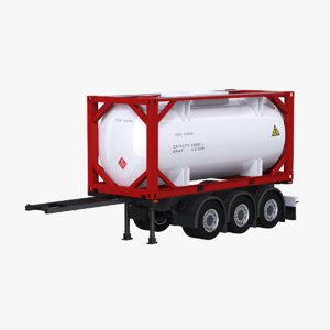 truck iso 20 tanker 3D model