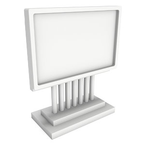 lcd screen stand blank 3D model