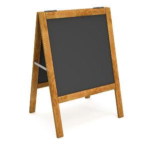sandwich board black menu 3D model