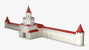 3D antique building paper v