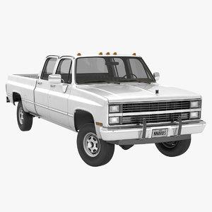 3D generic crew cab pickup truck