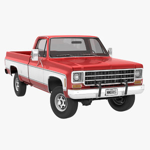 generic 4wd pickup truck 3D model