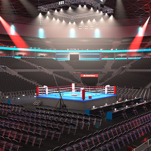boxing stadium 3D