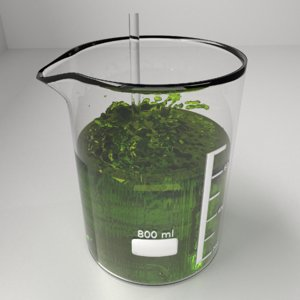3D 800 ml glass beaker model
