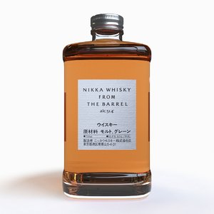 3D bottle nikka whisky