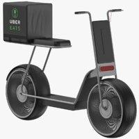 Uber Delivery Scooter 3D Model