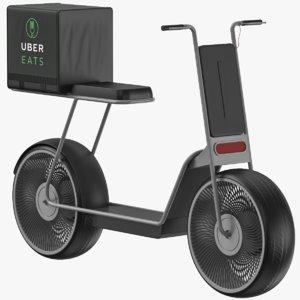 3D uber delivery model