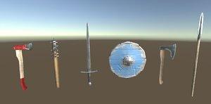 melee weapon set 1 model