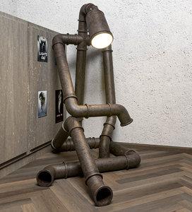 sad robot lamp model