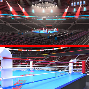3D model boxing stadiums