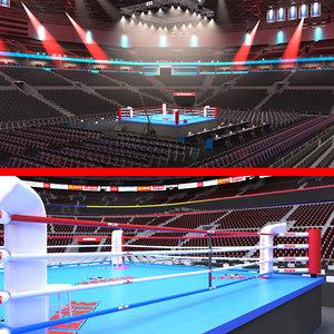 3D model boxing stadiums