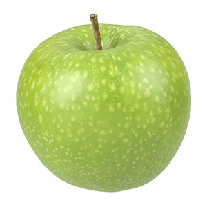 3D photorealistic scanned apple model
