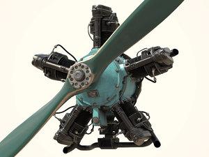 shvetsov m-11 radial aircraft 3D model