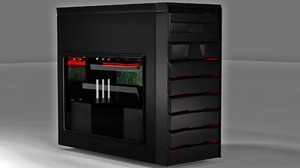 pc gaming case 3D model