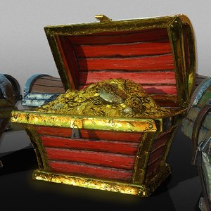 package treasure chests 3D model