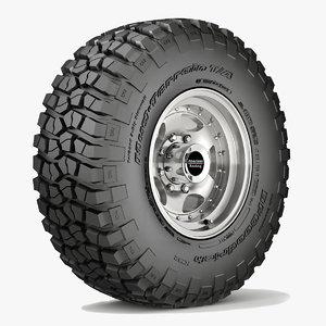 road wheel tire 3 3d max