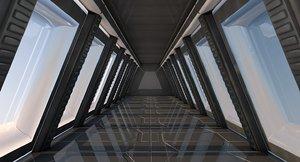 3D corridor sci fi model