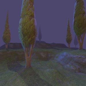 cypress tree games 3D model