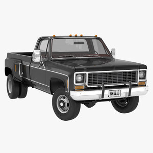 3D model generic 4wd dually pickup truck