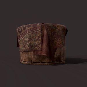 3D medieval blanket bucket pbr