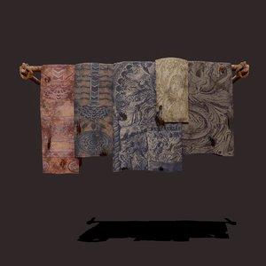 3D medieval blanket hanger