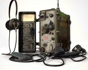 vhf radio station r-105m 3D