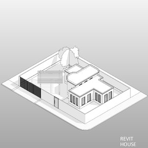 3D revit house model
