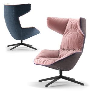 3D moroso armchair chair model