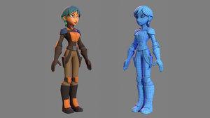 character - cartoon rebel 3D model