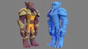 3D character - cartoon rebel