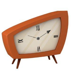3D modeled cartoon clock model