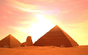 3D model egyptian pyramids sphinxes ancient