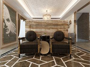 3D luxury interior model