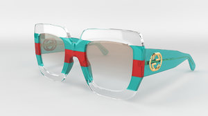 3D gucci sunglasses model