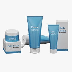 3D creams set 02 model