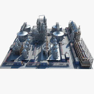 industrial area 04 3D model