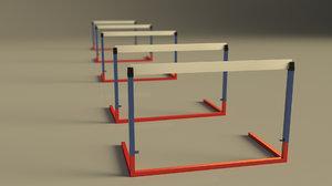 race hurdle sport 3D