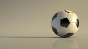 3D soccer sport model