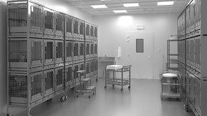 vivarium research facility 3D model