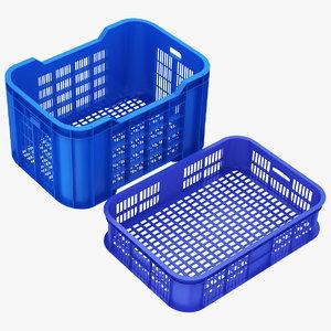 plastic crate colection 3D model