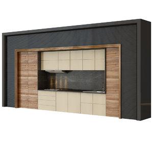 3D modern kitchen set