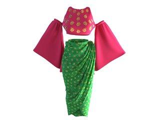 3D designer skirt