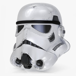 3D storm trooper helmet
