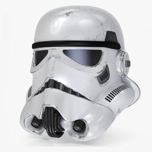 3D storm trooper helmet