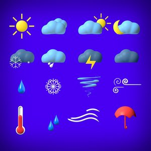3D weather elements