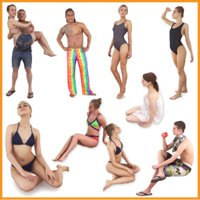 Resort Female and Male Peoples Collection 15 3D Character Pack