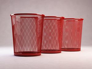 3D iron bin waste