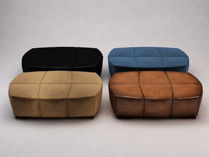 3D model upholstery suede leather
