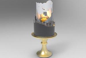 arabian lamp 3D model